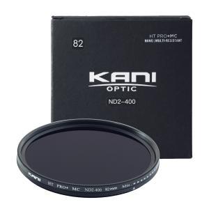 KANI 可変NDフィルター バリアブルND2-400 82mm (減光効果 1-8 3/2絞り分) / レンズフィルター 丸枠|locadesign