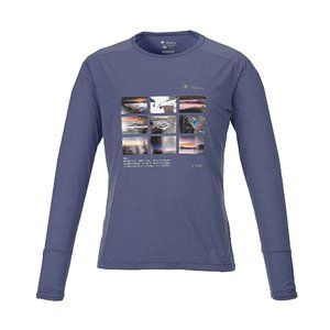 KANI オリジナルロングTシャツ ネイビーL|locadesign