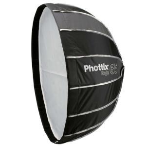 Phottix ( フォティックス )  Raja Quick-Folding Softbox 65cm / 傘のように素早く展開 ソフトボックス  ボーエンズマウント付属|locadesign