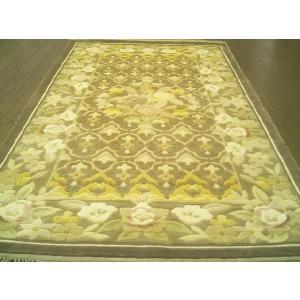 フローラルデザインの中国シルク絨毯 (約6畳相当) 客間|local-tokitoki