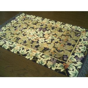 ※完売いたしました。ありがとうございました。・・・魅了のシルクロード芸術!!中国シルク絨毯   約61×91cm/玄関マット|local-tokitoki