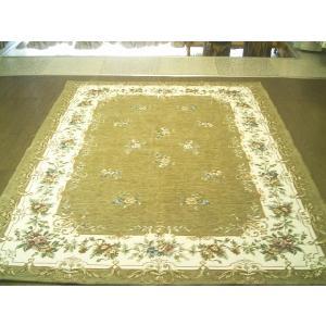 イタリアゴブラン織絨毯約140×190約1.5畳強◆和み小花|local-tokitoki