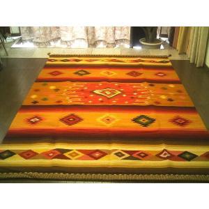 ペルーウールラグカーペットWOOL「眩い星」約3畳/送料無料カーペット古代インカ帝国 マチュ ピチュ|local-tokitoki