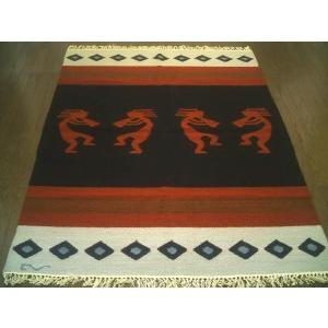 ペルーウールラグカーペットWOOL「平和のバグパイプ」約1.5畳/送料無料カーペット古代インカ帝国 マチュ ピチュ アルパカ ナスカ 地上絵 遺跡|local-tokitoki