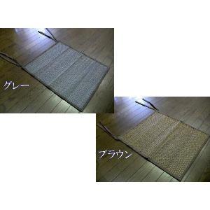 いぐさチェアカバー/座布団/44×50/冷却ジェルマットと共に♪/シーツ/シート/座椅子/節電「お届け約1週間」|local-tokitoki