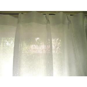 ミラーレースカーテン■ドット柄100×131cm(2枚組)「お届け約1週間」|local-tokitoki