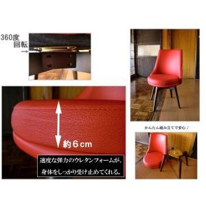 ダイニングチェア 回転 回転椅子 オフィス デスク ハイバック おしゃれ コンパクト オフィスチェア 木製 アンティーク風 低め ホワイト 簡単 設置 local-tokitoki 05