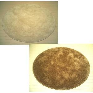 【2色展開】ムートン調シャギーラグ「ムータッチ」円型円形185cmボア※L|local-tokitoki