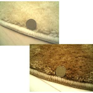 【2色展開】ムートン調シャギーラグ「ムータッチ」円型円形185cmボア※L|local-tokitoki|02