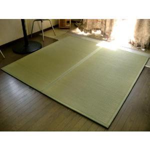 軽量/日本の癒しとくつろぎ/やさしい緑色グリーン。ユニット畳 2枚セット(2畳分相当)約82×164×1.3cm:防音対策・置き畳・床キズ防止。 節電|local-tokitoki