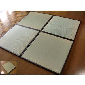 国産/日本の癒しとくつろぎ/つなげる畳ジョイント連結。ユニット畳 12枚セット(6畳分相当)約82×82×1.7cm:防音対策・床キズ防止。 防寒/断熱/暑さ対策/節電|local-tokitoki