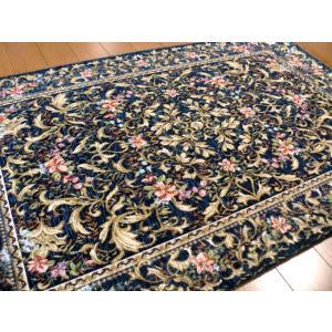 ペルシャ模様 100万ノット 70×120 ラグマット 厚手 北欧 夏 カーペット 絨毯 玄関マット ベルギー製 肉厚なボリューム|local-tokitoki