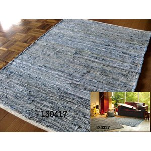 Tide【タイド】インド製フラット平織デニムラグ50×80cm 玄関 マット 室内|local-tokitoki