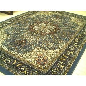 ペルシャデザイン青系■ウィルトン織絨毯170×240約3畳WOOL|local-tokitoki