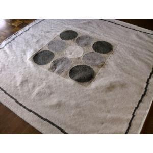 北欧 ポップなナチュラル柄 キリム ラグ 200×200 約 2畳 ラグマット ウール 厚手 北欧 夏 カーペット 絨毯 バーバーWOOL 室内|local-tokitoki