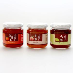 「国産」福島県産果実ジャム 3個セット (もも、梅、トマト) localtoglobal