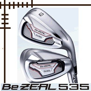 先行予約 ホンマ Be ZEAL 535 アイアン 5本(6番〜10番)セット ヴィザード for ビジール カーボンシャフト lockon