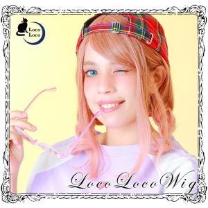 【即納】ウィッグ ボブ ピンク オレンジ グラデーション ミディアム コスプレ ゆめかわ  LocoLoco|locolco