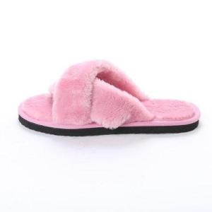 SFW サンエープラスフェミニン AAA+ feminine クロスベルトムートンサンダル (ピンク)|locondo-shopping|02