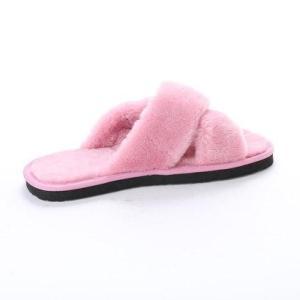 SFW サンエープラスフェミニン AAA+ feminine クロスベルトムートンサンダル (ピンク)|locondo-shopping|03