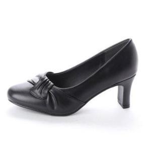 サンエープラスフェミニン AAA? feminine 6.5cmヒールリボンフォーマルパンプス (ブラック)|locondo-shopping|02