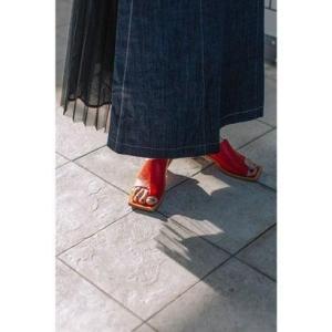 アウラアイラ AULA AILA THONG MULE (RED)|ブランド公式 LOCOMALL ロコモール