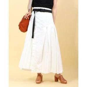 アウラアイラ AULA AILA プリーツパーツ デニムスカート (ホワイト)|ブランド公式 LOCOMALL ロコモール