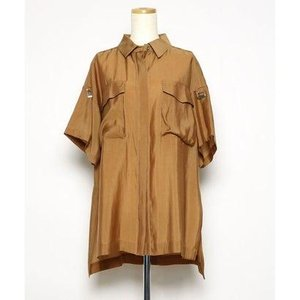アウラアイラ AULA AILA オーバーサイズシャツ (ブラウン)|ブランド公式 LOCOMALL ロコモール