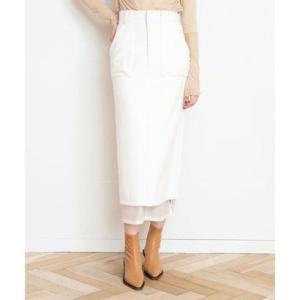 アウラアイラ AULA AILA フランネル タイトスカート (オフホワイト)|ブランド公式 LOCOMALL ロコモール