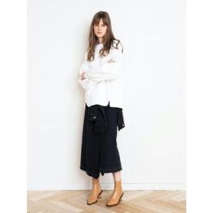アウラアイラ AULA AILA ラップデザインデニムスカート (ブラック)|ブランド公式 LOCOMALL ロコモール