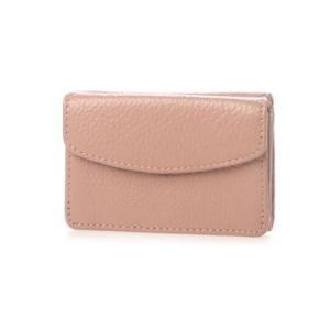 ビュレ Beau're カウレザー 三つ折り ミニマルウォレット (ピンク)|ブランド公式 LOCOMALL ロコモール