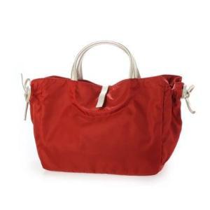 ブロンティベイパリス BRONTIBAYPARIS フランス製ナイロンハンドバッグ「コモ (レッド*ゴールド)|ブランド公式 LOCOMALL ロコモール