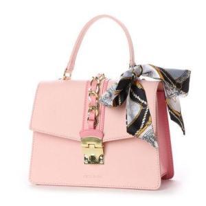 セシルマクビー CECIL McBEE アモ スカーフ付配色ショルダー (ピンク)|ブランド公式 LOCOMALL ロコモール