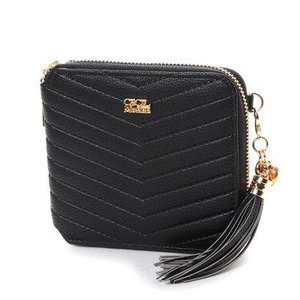 セシルマクビー CECIL McBEE V字型押し折財布 (ブラック)|ブランド公式 LOCOMALL ロコモール