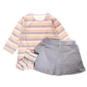 コムサイズム COMME CA ISM 女の子用マルチボーダーギフトボックス (ピンク) locondo-shopping