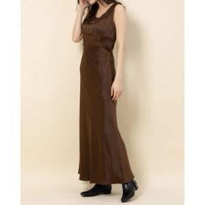 デイシー DEICY サテンレースドレス (ブラウン)|ブランド公式 LOCOMALL ロコモール