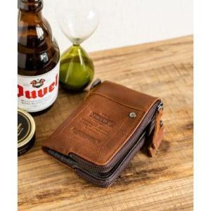 ディバイス DEVICE WORK ダブルジップ 二つ折り財布 (ブラウン)|ブランド公式 LOCOMALL ロコモール