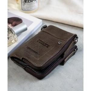 ディバイス DEVICE WORK ダブルジップ 二つ折り財布 (グレー)|ブランド公式 LOCOMALL ロコモール