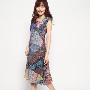 デシグアル Desigual ドレス袖なし (マルチ)|ブランド公式 LOCOMALL ロコモール