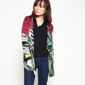 デシグアル Desigual 薄いゲージジャケット (ピンク/レッド)|ブランド公式 LOCOMALL ロコモール