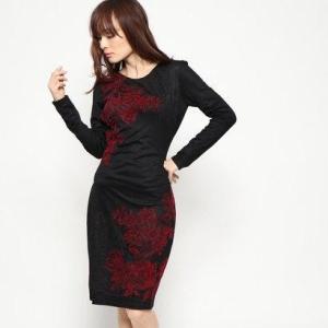 デシグアル Desigual ドレス長袖 (グレー/ブラック)|ブランド公式 LOCOMALL ロコモール