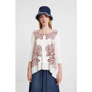 デシグアル Desigual Tシャツ スリーブ KASSANDRA (ホワイト)|ブランド公式 LOCOMALL ロコモール