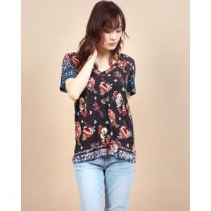 デシグアル Desigual Tシャツ半袖 ANTOINE (グレー/ブラック)|ブランド公式 LOCOMALL ロコモール