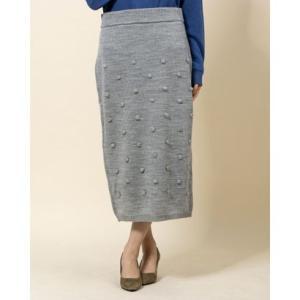 ディノス dinos エマテイラー ポンポンニットスカート (グレー)|ブランド公式 LOCOMALL ロコモール