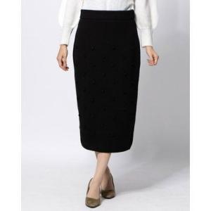 ディノス dinos エマテイラー ポンポンニットスカート (ブラック)|ブランド公式 LOCOMALL ロコモール