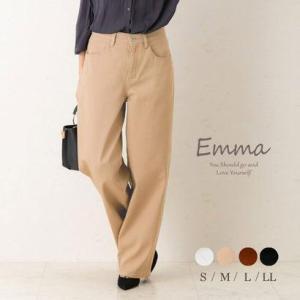 エマ Emma カラーワイドカーブパンツ (ベージュ) ブランド公式 LOCOMALL ロコモール