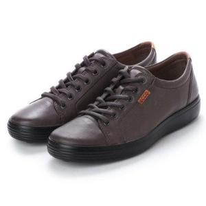 エコー ECCO Mens Soft 7 Sneaker (LICORICE)|locondo-shopping