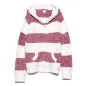 ジェラートピケ gelato pique ジェラート極太2ボーダーパーカ (ピンク)