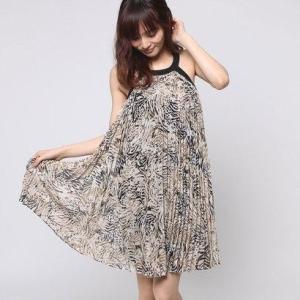 3e9e203845f1 ゲス GUESS SL FIONA PLEATED DRESS (BENGAL TIGER JET BLACK)|locondo-shopping  ...