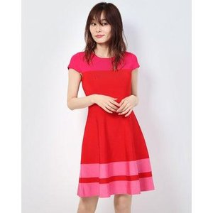 ゲス GUESS ELETTRA SWEATER DRESS (RED & PINK STRIPES)|ブランド公式 LOCOMALL ロコモール